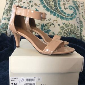 Style & Co. Patent leather sandal heels